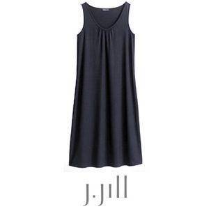 J. Jill Wearever Dress Sleeveless Stretch Black L